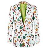 Mode männer Herbst Winter Weihnachten schlank Langarm Anzug herren Jacke Trenchcoat top Bluse Weihnachtsjacke in Verschiedenen Drucken besteht Sakko Hose Krawatte Partykleid Mantel Arbeitskleidung