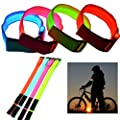 LED Armband Leuchtband Sicherheitsband Fahrrad Leuchte Blinklicht Sport Licht Rad Joggen Klettband Motorrad