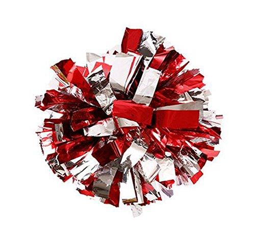 2von Kunststoff Cheerleader Cheerleading Pom Poms Metallic Folie -