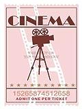 ILLUSTRATION VINTAGE RETRO CINEMA MOVIE THEATRE TICKET 12 X 16 INCH AFFICHE POSTER ART PRINT VE103B...