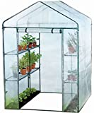 Harbour Housewares Large Double Depth Vegetable / Fruit Greenhouse With 8 Shelve
