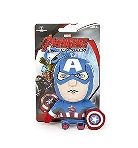 Marvel Famosa - Peluche/Llavero 11 cm con Sonidos Capitán América (Famosa 760014552)