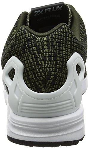 adidas Zx Flux, Scarpe da Ginnastica Basse Uomo, Nero Verde (Night Cargo/footwear White/core Black)
