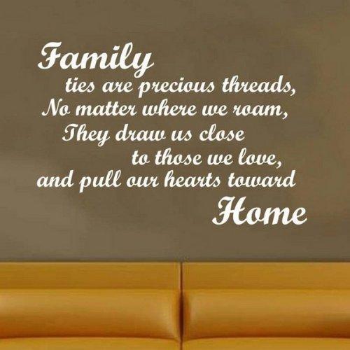 Windsor Designers Wandtattoo-Family Home Gedicht. Wanddekoration Aufkleber Wandbild Schlafzimmer Lounge Küche, schwarz, Large -Size 90cm x 60cm
