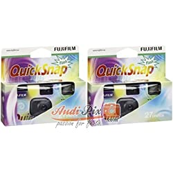 Fujifilm Quicksnap Flash 27 Pack de 2 Appareils Photo jetable ISO 400