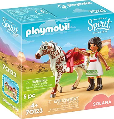 Playmobil- Solana con Caballo Juguete