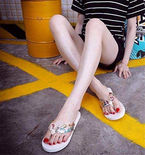 LHWY Damen Sandalen Slipper Indoor Outdoor Flip Flops Beach shoes Beige