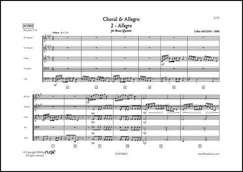 Descargar Libro PARTITURA CLASICA - Choral & Allegro - 2 - Allegro - G. ARCENS - Brass Quintet de ARCENS Gilles