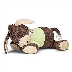 Idea Regalo - Sterntaler Peluche per la nanna, Emmi L'Asinello, Dispositivo con battito cardiaco integrato, Età: da 0 mesi, 30 cm, Marrone