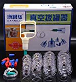 Profi Schröpfglas-Set 24 KANG ZHUCI aus hochwertigem Kunststoff mit Therapiemagneten - professionelles, medizinisches Schröpfset, Vakuum Cupping-Set, TCM, Faszientherapie