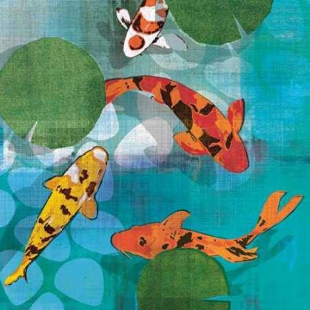 Lucky Koi II par Venter, Tandi -Imprimé beaux-arts sur toile - Petit (73 x 73 cms)