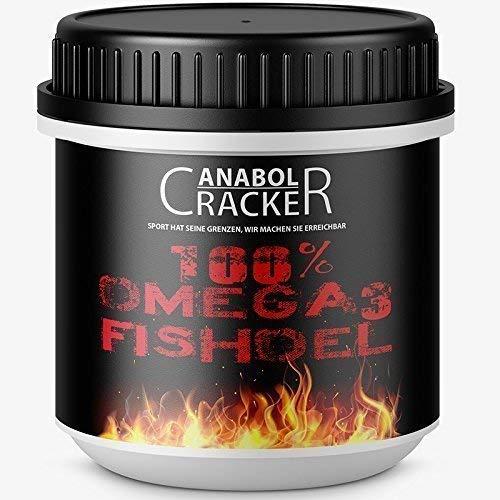 100% Omega 3 Fischöl, 520 Kapseln, hochdosiert – 3000 mg Tagesdosis mit EPA + DHA + Vitamin E, Fettverbrennung Diät Muskelaufbau