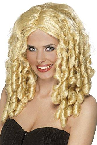 (Unbekannt Smiffys Damen Filmstar Perücke mit Spirallocken, One Size, Blond, 42123)