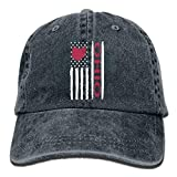 Xukmefat Men And Women Vintage Ohio State America Flag Vintage Jeans Baseball cap PK459