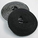 PROHEIM Klettband 5m für Fliegengitter aus Fiberglas-Gewebe selbstklebendes Hakenband und Flauschband zur sicheren Befestigung von Insektenschutzgitter Befestigungsband, Farbe:Anthrazit