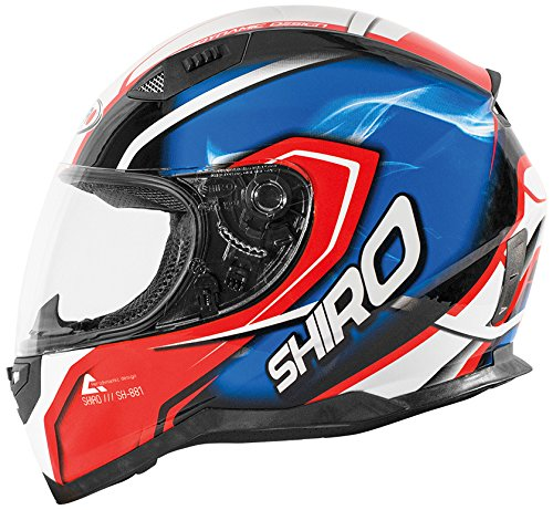 Shiro casco, Motegi RED-BLUE, tamaño M