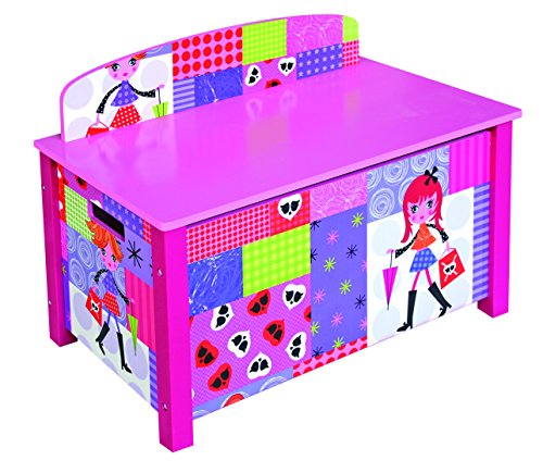Kinder 's Pink Fashion Puppe Thema Spielzeug Truhe
