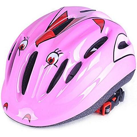 TKWMDZH® High roller skate skateboard bambino bici bicicletta casco di pattinaggio , pink
