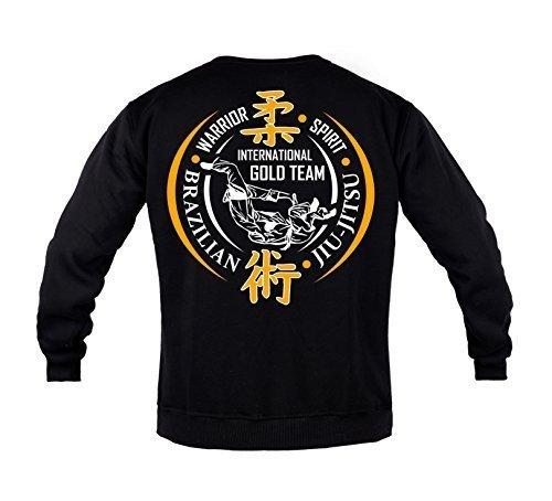 Rule Out Sweatshirt.Brazilian Jiu Jitsu. BJJ Gold Team. Gym. Kampfkunst. Sportswear.MMA. Crewneck. Martial Arts. Casual (Größe Large)