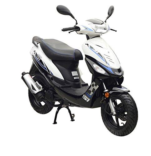 Motorroller Nova Motors Energy 50 2T weiß-blau - 45km/h