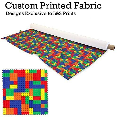 Bunt Bausteine Design Digitaldruck Stoff gestrickt Jersey 59