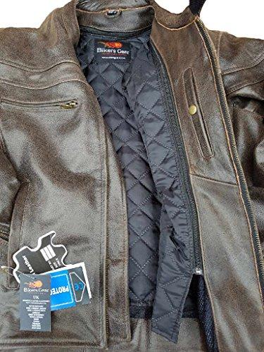 Sturgis-Monza-invecchiato-marrone-pelle-di-vacchetta-CE-con-giacca-da-motociclista