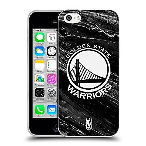 Officiel NBA B&W Marbre Golden State Warriors Étui Coque en Gel molle pour Apple iPhone 5c