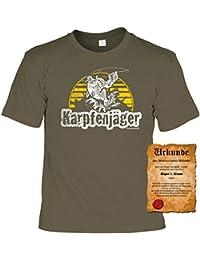 Fun, witziges Sprüche FischerT-Shirt Karpfenjäger Angler