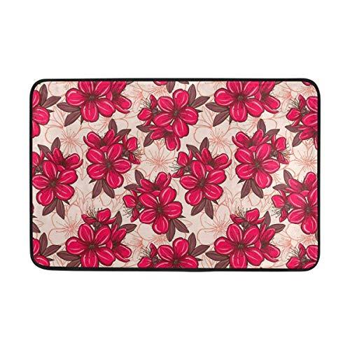 jingqi Cherry Blossom Pattern Non-Slip Door Mat Home Decor,Durable Indoor Outdoor Entrance Doormat 23.6x15.7inch/40x60cm (Cherry Blossom Baby-dusche)