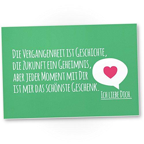 d (grün, 30 x 20 cm), Liebesbeweis - süßes Geschenk für den Freund oder die Freundin, Geschenkidee Jubiläum für Sie oder Ihn, Geburtstagsgeschenk für Partnerin oder Partner (Ich Liebe 30)