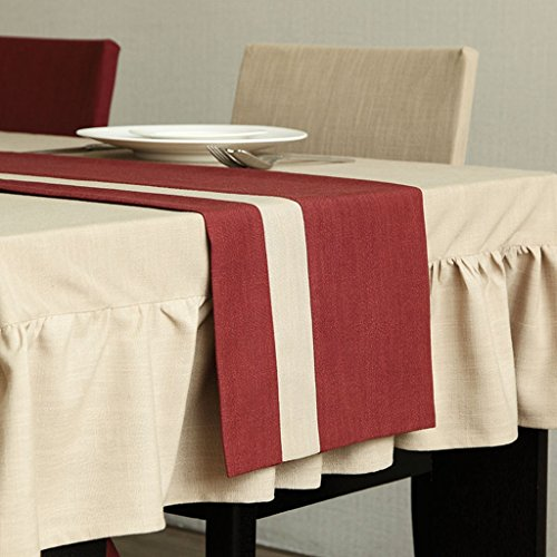 BSNOWF-Chemin de table Chemin de table de style campagnard américain Fangma Table à manger isolant Table Mat Table basse drapeau (Couleur : B, taille : 32*200cm)