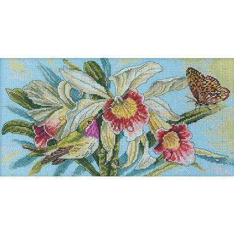 RTO RTM221 Kit pour Point de Croix Compté Motif Jardin Magique 18 x 35 cm