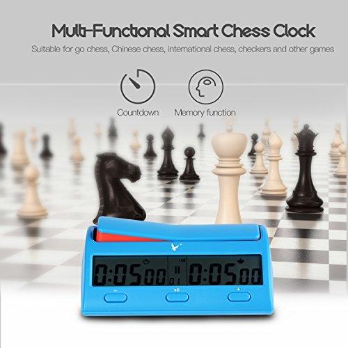 CkeyiN;Digital Bildschirm Schachuhr Countdown Timer für internationales Schach, chinesisches Schach, Schach mit 38 Timing Regeln