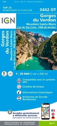 3442OT GORGES DU VERDON - MOUSTIERS par COLLECTIF
