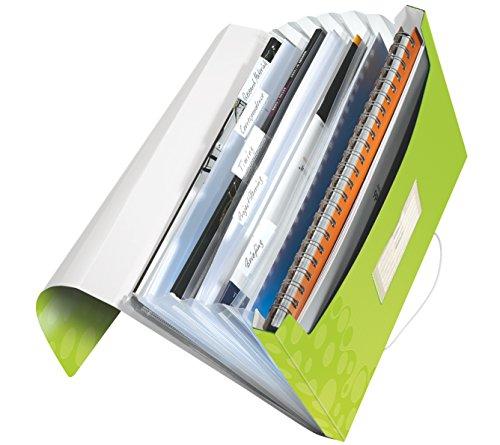 Leitz 45890064 Fächermappe WOW, A4, 6 Fächer, PP, grün metallic
