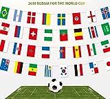 Wimpelkette FIFA-Fußballweltmeisterschaft 2018 mit 32 Flaggen, 9 m Stoff