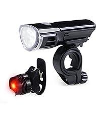 Wasserdichte LED Fahrradbeleuchtung,Superhell CREE XPE 3W LED Fahrradlampe Set inkl.Frontlicht und Rücklicht, 3 Licht-Modi,300Lumen,Fahrradscheinwerfer für Radfahren,Camping und Weitere