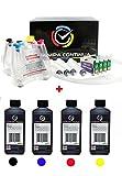 Set de 1L tintas con CISS sistema de alimentación continua de 'cartuchos de tinta para Epson 1281 / 1284, Stylus S22 / SX125 / SX130