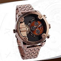 Fashion Korean business men's steel band watch quartz watch