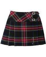 """Tartanista Black Stewart 16.5"""" Tartan Scottish Mini Kilt Skirt Free Pin 6-28"""