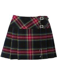 """Tartanista - Mini kilt a quadri 42cm (16.5"""") - Tartan plaid nero"""