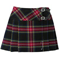 "Tartanista - Mini kilt a quadri 42cm (16.5"") - Tartan plaid nero"