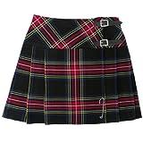 Mini kilt/jupe - tartan Stewart - épingle gratuite - noir - 42 cm