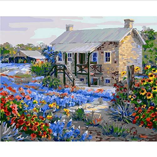 CBUSYS Rahmenlose DIY Gemälde Nach Zahlen Malen Nach Zahlen Für Wohnkultur Ölbild Malerei 50 * 65 cm