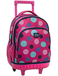 Roll Road Dots Mochila Escolar, 31.65 Litros, Color Rosa