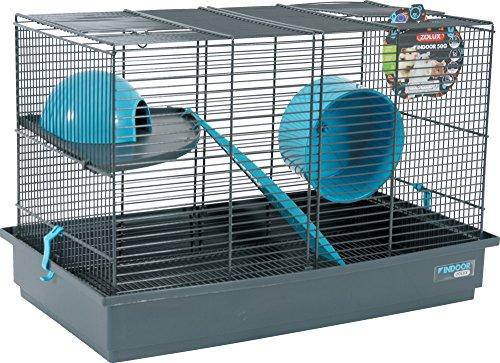 Zolux Indoor Gabbia per Gerbille Mouse/Criceto Blu 51x 28x 33cm