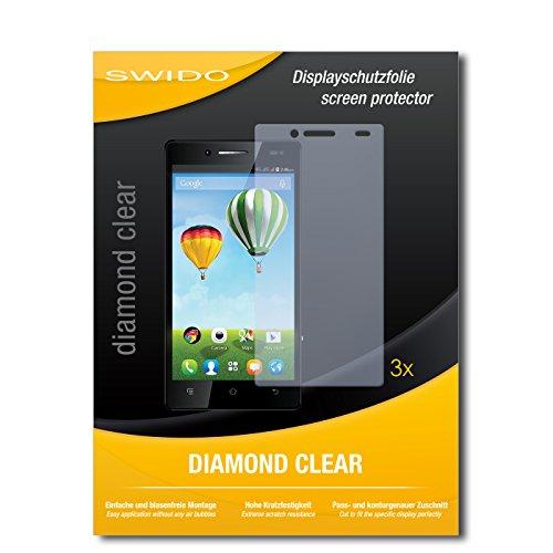 SWIDO 3 x Schutzfolie Haier Phone L50 Bildschirmschutz Folie DiamondClear unsichtbar
