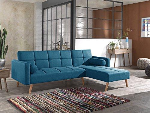 Bestmobilier - Zara - Canapé d'angle réversible Convertible au Style scandinave en Tissu - 238x82x156cm