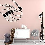 WSLIUXU Cartoon Nail Salon Vinile autoadesivo Adesivo impermeabile da parete Adesivo da parete per bambini Art Deco Adesivo da parete Argento L 43 cm X 43 cm