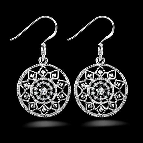 Ecloud-Shop-Noble-de-la-manera-mujeres-de-la-joyera-925-pendientes-de-plata